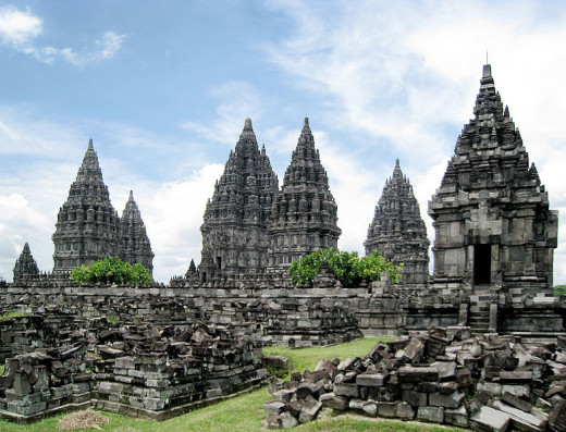Prambanan temple, located on the border between Yogyakarta and Central Java province.