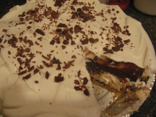 Chocolate Pie - with cheesecake layer