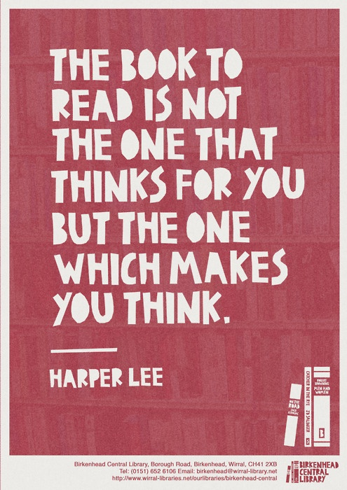 Harper Lee on books