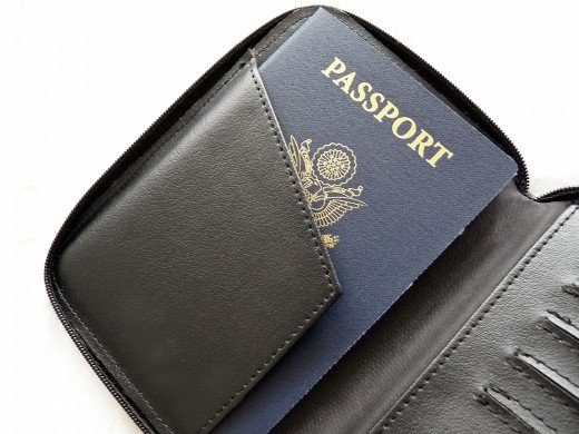 An RFID blocking passport case makes it easy to secure your passport and credit cards.