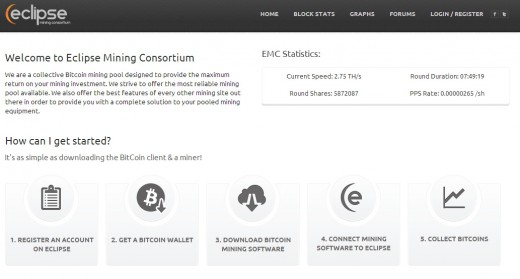 Eclipse Mining Consortium is one of the many great Bitcoin mining pools available to join.