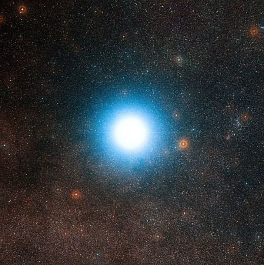 A photograph of Alpha Centauri, the closest star to Earth besides the sun.