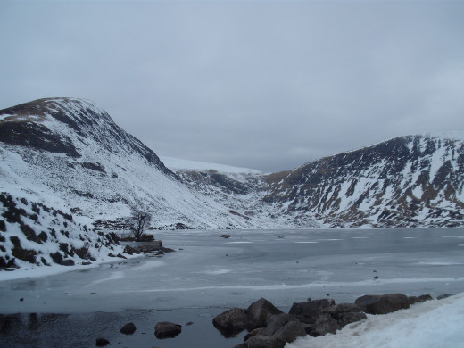 The loch stands remote and unspoilt.