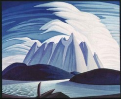 The Group of Seven, Lauren S. Harris,   Lake & Mountains 1928 oil on canvas. 130.8 x 160.7cm   Gift from the Fund of the T. Eaton Co. Ltd. for Canadian Works of Art 1948, 2001 Art Gallery of Ontario