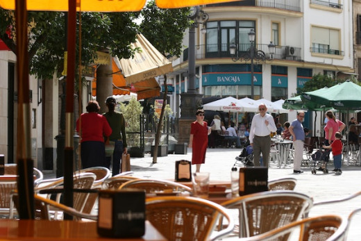 Outdoor cafe in Jerez de la Frontera. Spain.