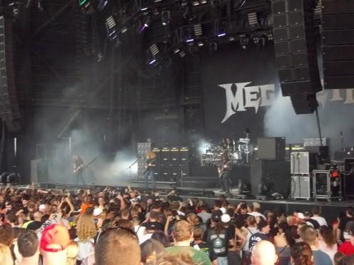 Megadeth during Mayhem Fest 2011