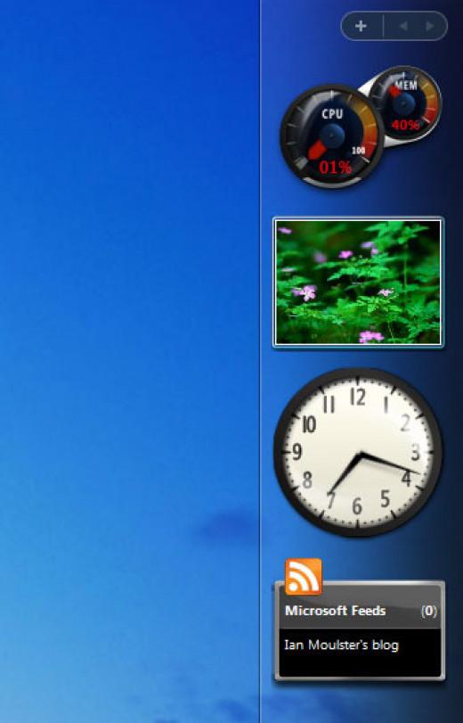 Windows Vista gadgets © Microsoft Corp.