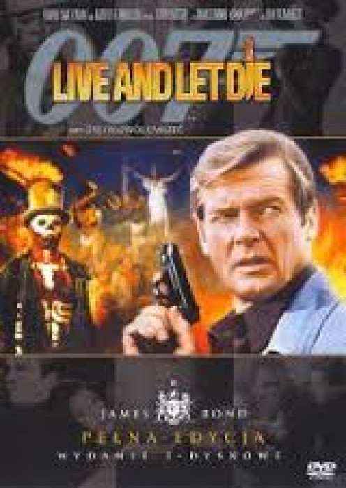 Roger Moore played as James Bond in Live and Let Die and many other 007 movies. James Bond movies were very popular when they were released.