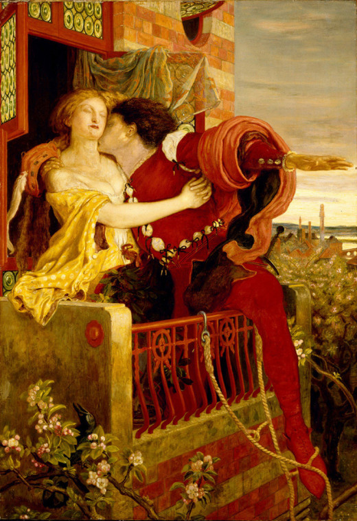 Romeo and Juliet by Ford Madox Brown (1821-1893)