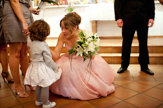 The cutest little bridesmaid