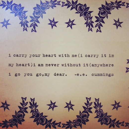 "From ""i carry your heart with me"" by e.e. cummings"