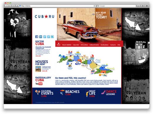 CubaRU travel company website design