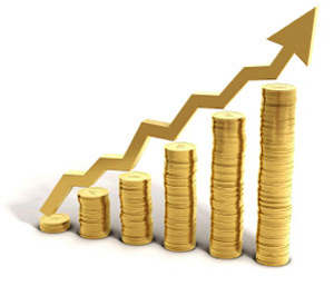 As you see here the price of gold is going up.