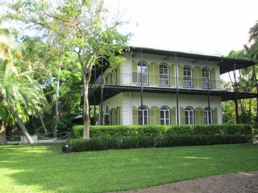 Hemingway's Home in Key West Florida gives you a glimpse of how the great American author lived and wrote.