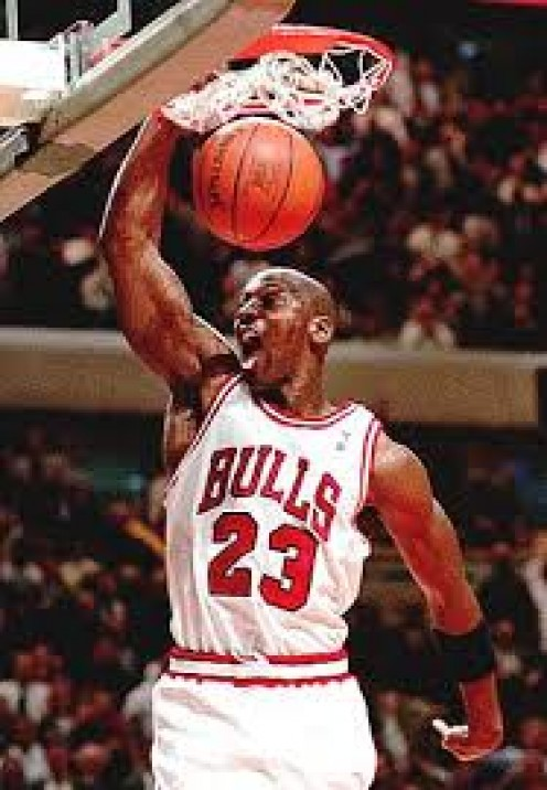 Air Jordan has won six NBA Titles with the Chicago Bulls.