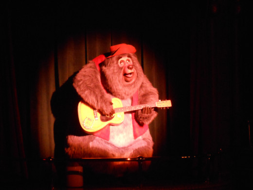 Take a break at the Country Bears sing-along, number 9 on the order for the day.