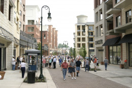 In season, the Branson Landing promenade attracts thousands of people.