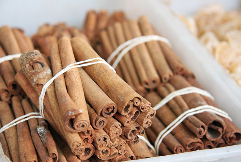 Cinnamon stick bundles.