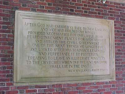 Harvard Front Gate inscription