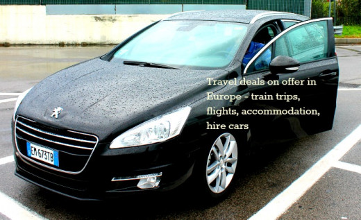 Travel deals on offer in Europe - train trips, flights, accommodation, hire cars