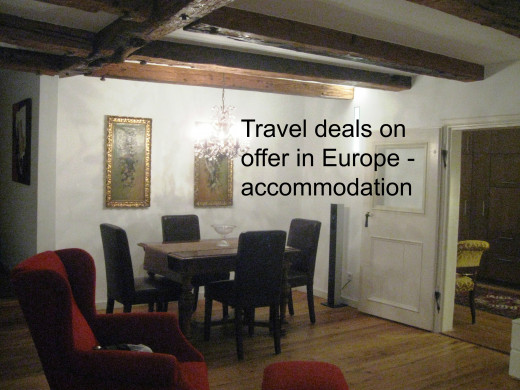 Travel deals on offer in Europe - accommodation