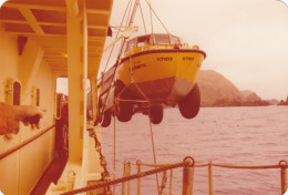 This picture was taken by me in October 1976 just off the coast at Macquarie Island, just prior to our expedition going ashore for a year's sojourn.
