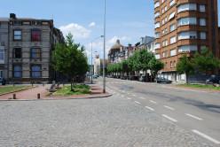 Liège: Place des Nations-Unies and Avenue du Luxembourg, towards Saint-Vincent church