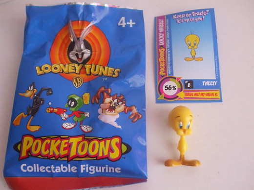 Tweety figurines selling for $9.99.  I have sold 8 of these sets.