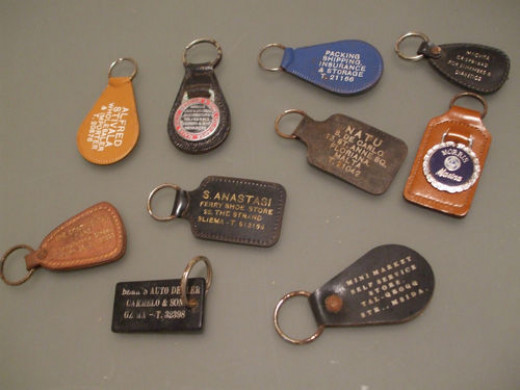 A lot of vintage key chains up for sale on ebay.
