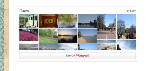 "A Pinterest ""Board Widget"""