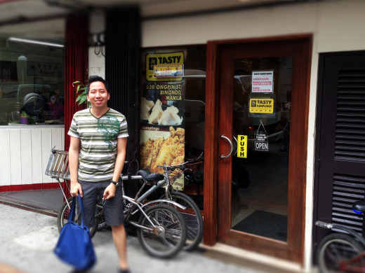 A photo of me outside the Tasty Dumpling Chinese Restaurant