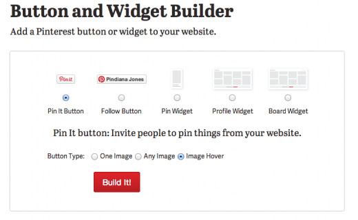 Pinterest Button and Widget Builder