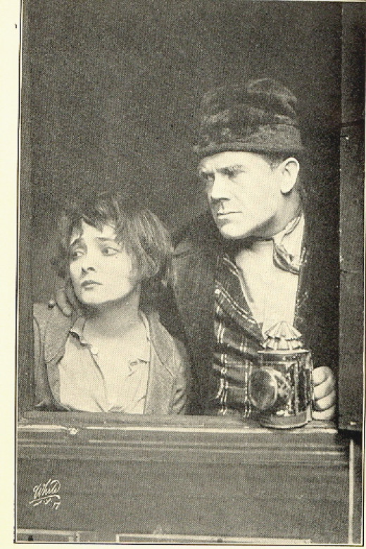 Public Domain Image of Marie Doro and Lyn Harding in 'Oliver Twist' at the New Amsterdam Theatre, 1912.