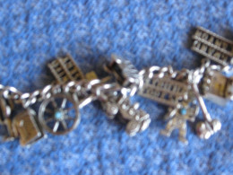 This charm bracelet is a mix of old and new Western theme charms.