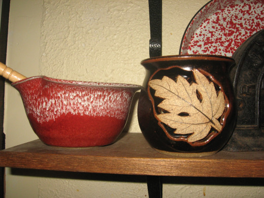 These pottery pieces came from the Gatlinburg Artists Community.