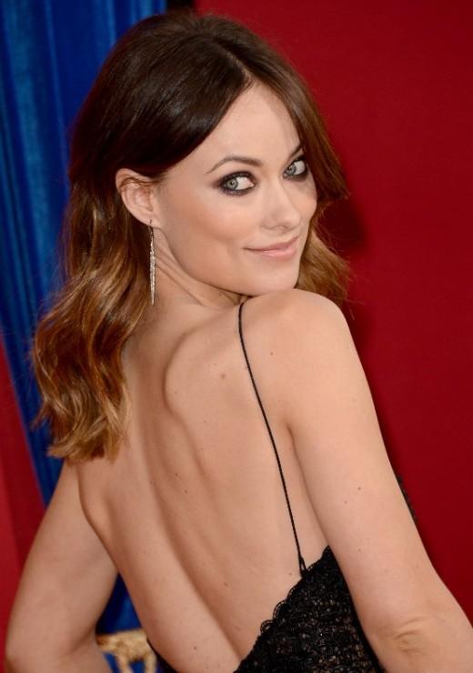 Olivia Wilde backless dress