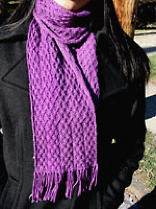 Achernar cabled scarf