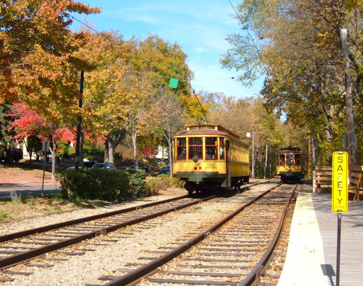 The Lake Harriet Trolly is one kind of train car. Not the one we usually think about.