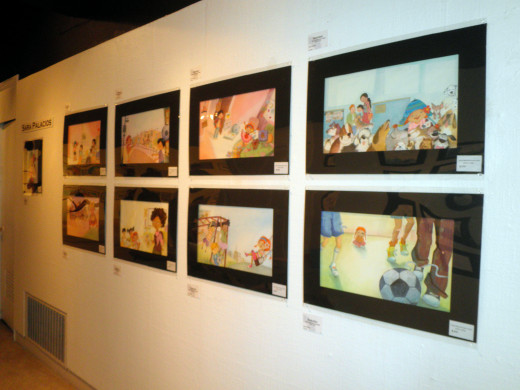 "Sun Gallery in Hayward, Ca. Sara Palacios original illustrations from the childrens book ""Marisol McDonald Doesn't Match"""