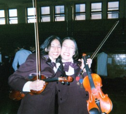 Guitarist and violinist Sarah once played with the national championship Boardman High School Orchestra setting the bar for her younger sister Loryn who followed in her footsteps.