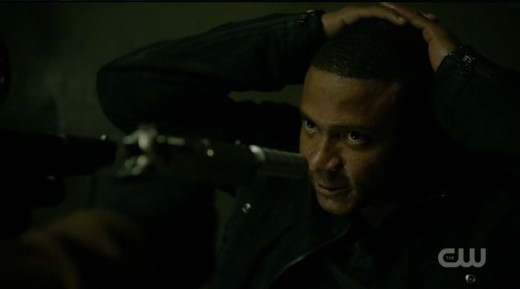 This is what happens to Diggle when Oliver isn't where he's supposed to be.