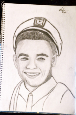 And this is the final Pencil Sketch of Tyler
