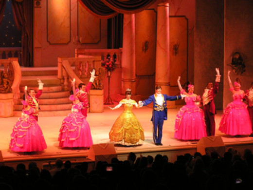 "The finale of the stage show ""Beauty And The Beast."""