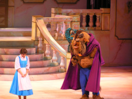 Belle with the Beast in the stage show.