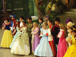 Disney princess and characters from Disneyland. Such a magical place!