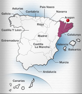 The cava region in Catalonia, Spain.