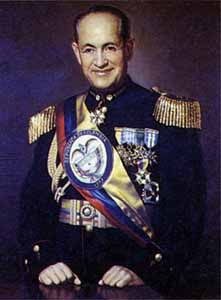 Pinilla ruled a totalitarian government in Colombia that ended the internal conflict with the liberal factions, but not the communists