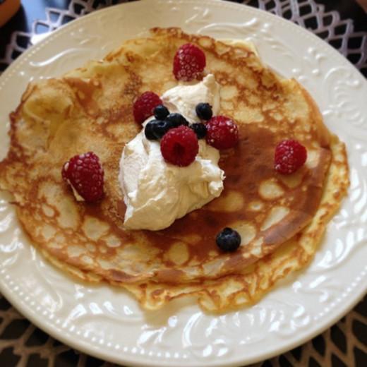 Grandma's Swedish pancakes are more like crepes.