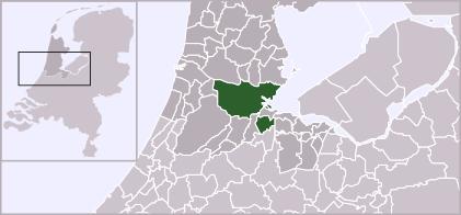 Map location of Amsterdam municipality