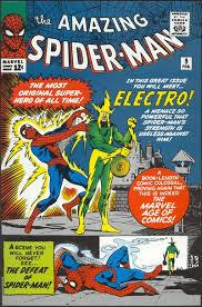 Spider-man gets a shock.